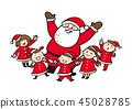 Santa and children 45028785