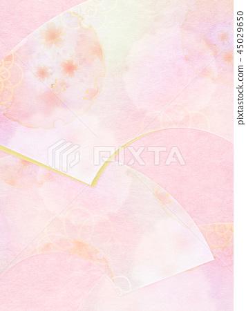 日本 - 日本風格 - 日本模式 - 背景 -  Washi  - 春天 - 櫻桃樹 - 粉紅色 45029650
