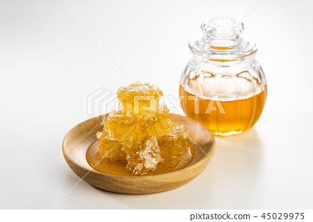 Honey and honey nest that went into a small bottle 45029975