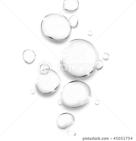 透明水滴,水滴例證,水下落,純淨的水 45031754