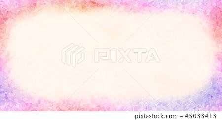 鮮豔細緻的抽象底紋邊框特寫材質紋理背景,正視圖(高分辨率 2D CG 渲染∕著色插圖) 45033413