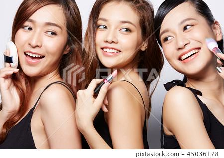 여성 뷰티 시리즈 메이크업 45036178