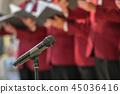 Microphone and mens choir 45036416