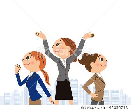 여성 직장인의 비즈니스 현장 45036718