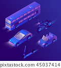 3d isometric urban passenger transportation 45037414