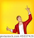 pop art man with ok gesture 45037426