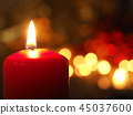 One Advent candle burning 45037600