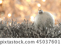 Christmas bauble with blurred lights 45037601