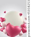 情人節,情人節背景,情人節橫幅和模板,週年紀念邀請 45038253