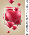 情人節,情人節背景,情人節橫幅和模板,週年紀念邀請 45038256