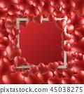 情人節,情人節背景,情人節橫幅和模板,週年紀念邀請 45038275