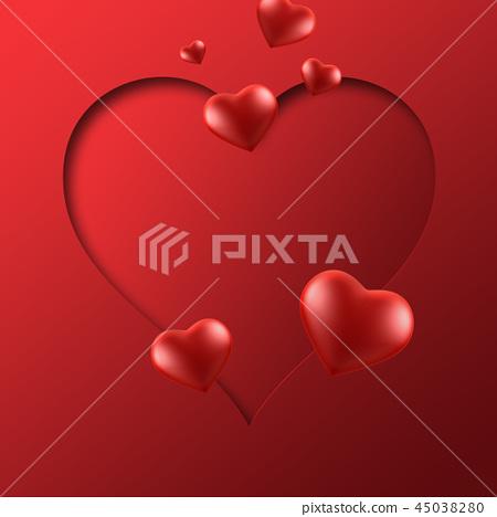 情人節,情人節背景,情人節橫幅和模板,週年紀念邀請 45038280