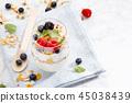 yogurt berries fresh 45038439