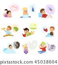 孩子 阅读 插图 45038604