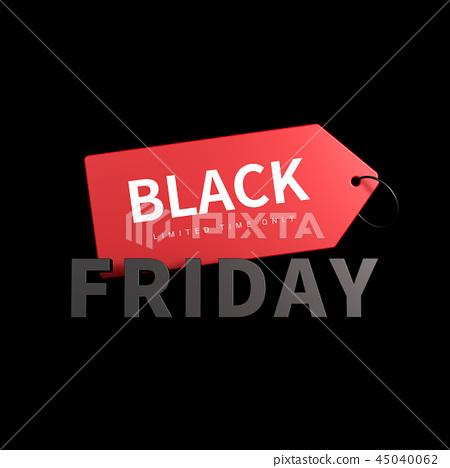 黑色星期五物体,销售物品,黑色星期五标签 45040062