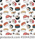 sushi food background 45044260