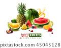 fruit composition realistic 45045128