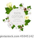 Cotton Realistic Composition 45045142