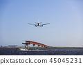 飛機降落 45045231