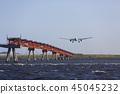飛機降落 45045232