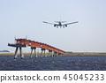 飛機降落 45045233