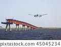 飛機降落 45045234