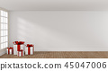 White Christmas gift boxes in a bright room 45047006