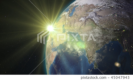 3D rendering of the planet Earth from space 45047943
