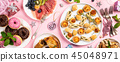 Christmas dinner party table 45048971