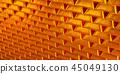 Hundreds of stacked gold bars or bullion 45049130