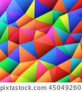 abstract vitrage with triangular multi colors grid 45049260