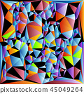 abstract vitrage with triangular multi colors grid 45049264