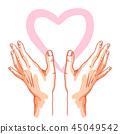 hand, love, heart 45049542