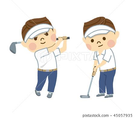 골프를 치는 사람 45057935