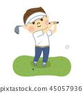 골프를 치는 사람 45057936