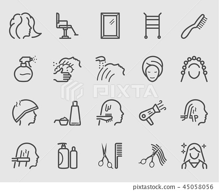 Line icons set for Hair Salon 45058056