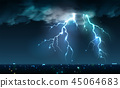 city, storm, night 45064683