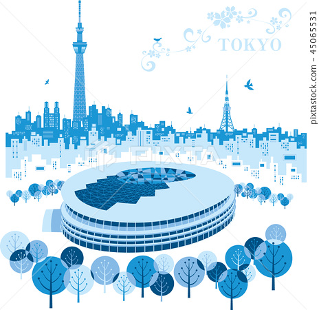 도쿄 올림픽 신 국립 경기장 45065531