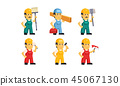 cartoon builder worker 45067130