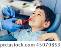 Learning about dental hygiene 45070853