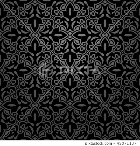 Flower geometric pattern. Seamless background.  45071137