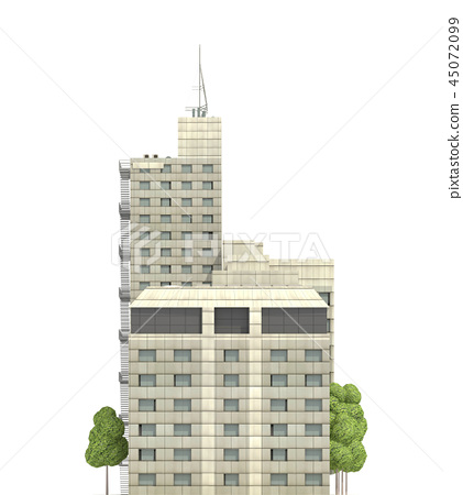 Modern buildings isolated on white background... - Stock ...