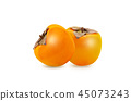 fresh ripe persimmons isolated on white background 45073243