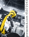 Automatic robot arm working in industrial environment 45073543