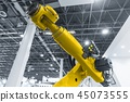 Automatic robot arm working in industrial environment 45073555
