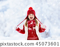 snow, winter, child 45073601