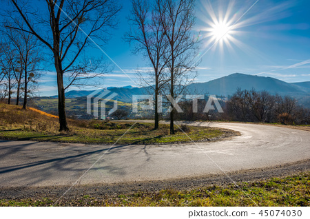 serpentine in beautiful mountainous countryside 45074030