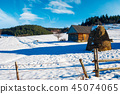 abandoned barn in Carpathian mountains 45074065