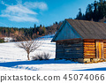 abandoned barn in Carpathian mountains 45074066