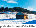 abandoned barn in Carpathian mountains 45074067